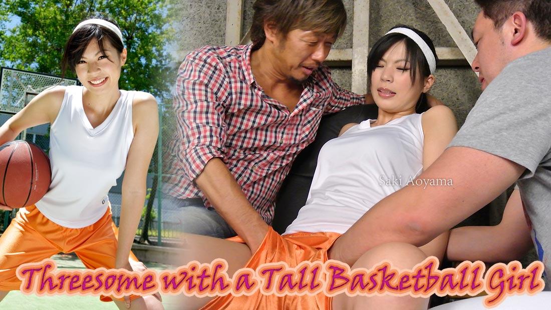 HEYZO-0118 Threesome with a Tall Basketball Girl – Saki Aoyama