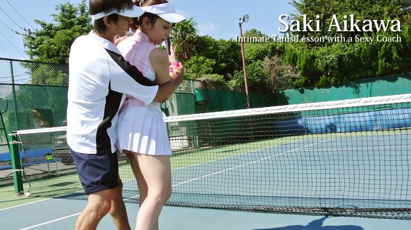 HEYZO-0154 Intimate Tenis Lesson with a Sexy Coach – Saki Aikawa