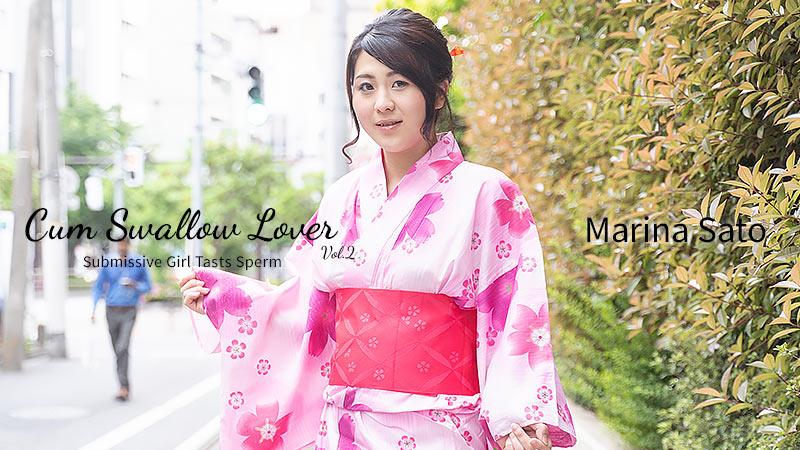 HEYZO-2304 japanese sex movie Cum Swallow Lover – Submissive Girl Tasts Sperm Vol.2 – Marina Sato
